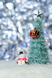 X`mas object. Snowman Royalty Free Stock Photography