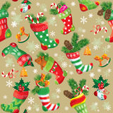 X-mas och bakgrund för nytt år med julmaterielet stock illustrationer
