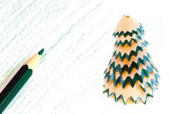 X-mas pencil Stock Images
