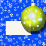 X-mas postcard, ball,decoration Stock Photos