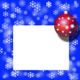 X-mas postcard,red ball,decoration Royalty Free Stock Photos