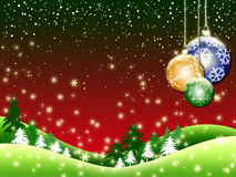 X'mas red background Stock Images