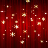 X'mas red curtain background Stock Photography