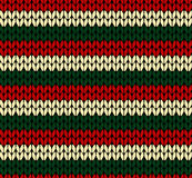 X-mas seamless knitted pattern Royalty Free Stock Image