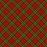 X-mas seamless tartan pattern Stock Image