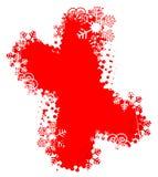 X MAS sneeuwvlokken grunge achtergrond royalty-vrije illustratie