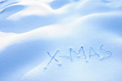 X-Mas in Snow Royalty Free Stock Photo
