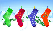 X-mas sock Royalty Free Stock Images