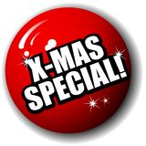 X-Mas Special 3-D Sphere Vector Stock Photography