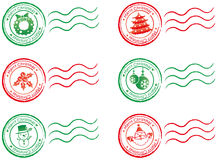 X'mas stamp Stock Image