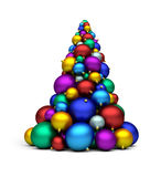 X-mas tree. A stack of colorful bomblets; 3d rendering Royalty Free Illustration