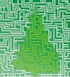 X-mas tree as circuit board Stock Photos