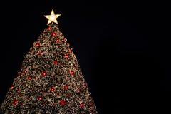 X'mas tree bokeh Stock Image