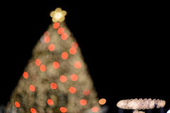 X'mas tree bokeh Royalty Free Stock Photos