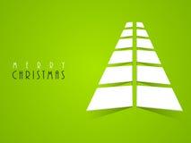 X-mas tree design for Merry Christmas celebration. Stock Image