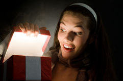 X-mass magic present Royalty Free Stock Image