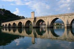 'The Mehmed Pasha Sokolovic Bridge', Visegrad - Bosnia and Herzegovina Royalty Free Stock Photo