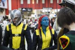 X-mensen cosplayers Stock Foto's
