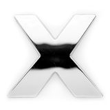X - Metal letter Stock Photo