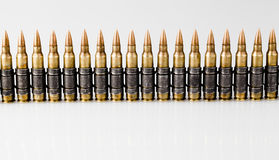5.56x45mm北约曳光子弹 库存照片