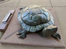 & x22;Basking& x22; by Pati Stajcar & x28;CO& x29;; Sculpture on the Sioux Falls SculptureWalk