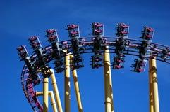 X montagnes russes Photographie stock libre de droits