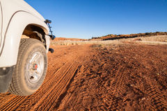 4x4 nel deserto Fotografia Stock