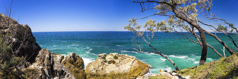 36X12 North Stradbroke Island Panorama Stock Photography