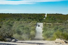 4x4 offroad na estrada do deserto do panorama da paisagem de Baja California Foto de Stock Royalty Free