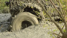 4x4 offroad truck wheel with lots of mud on it stock video footage
