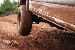 4x4 offroad. 4x4 vehicle offroad, with mud stock photography