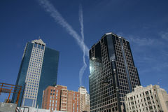 X over de Stad van Kansas Stock Afbeeldingen