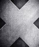 X pattern on metal background Royalty Free Stock Image