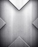 X pattern of metal background Stock Images