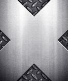 X pattern metal background Stock Photo