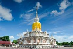 'Phra That Na Dun' is Landmark MahaSarakham ,Thailand. Bhudda temple Stupa Maha Sarakham landmark,Temple blue sky in Maha Sarakham, Thailand; Phra That Na Dun ( royalty free stock images