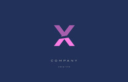 X pink blue alphabet letter logo icon Royalty Free Stock Photography