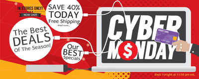8000x3200 Pixel Cyber Monday Super Wide Banner. Vector Illustration royalty free illustration