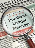 We& x27; ponowny Zatrudnia zakup księgi głównej kierownik 3d Obraz Stock