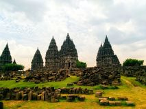Prambanan Temple is a historic building built with the help of God and Satan for humanity. royalty free stock photo