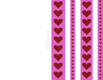8.5 x 11 printable foldable heart stripe design valentines day card background illustration Stock Photos