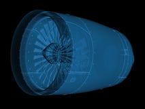 X promienia dżetowy silnik Obraz Stock