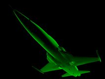 X-ray 3D fighter jet Royalty Free Stock Images