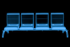 X ray airport seats. 3d rendering x ray airport seats isolated on black Stock Photography