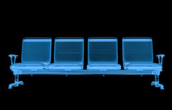 X ray airport seats. 3d rendering x ray airport seats isolated on black Royalty Free Stock Photos