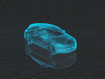 X-ray car  in 3d Royalty Free Stock Photos