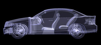 X-ray of car Stock Image