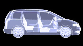X-ray concept car Stock Photos