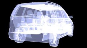 X-ray concept car Stock Photo