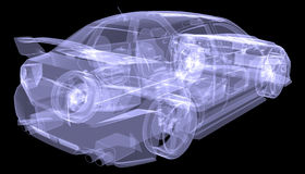 X-ray concept car Royalty Free Stock Photos